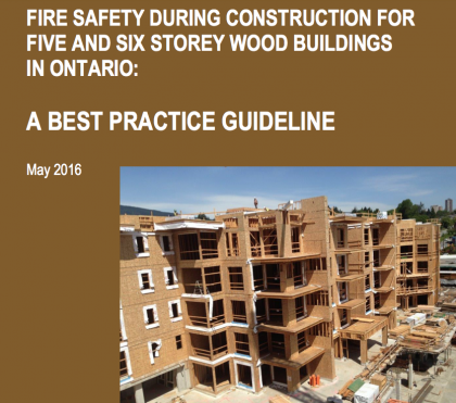 Fire Safety During Construction (Ontario)
