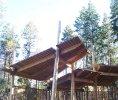 The Okanagan Mountain Fire Pavilion Kelowna, BC roof