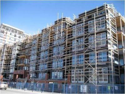 Ellis Building, Kelowna during construction