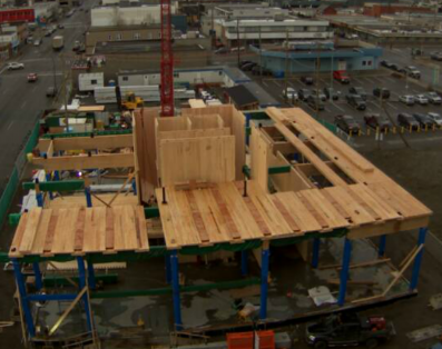 Live Webcam of construction of UNBC's WIDC Screen Capture