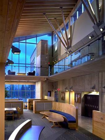 Medical building university of northern bc wood works - Interior design universities in california ...